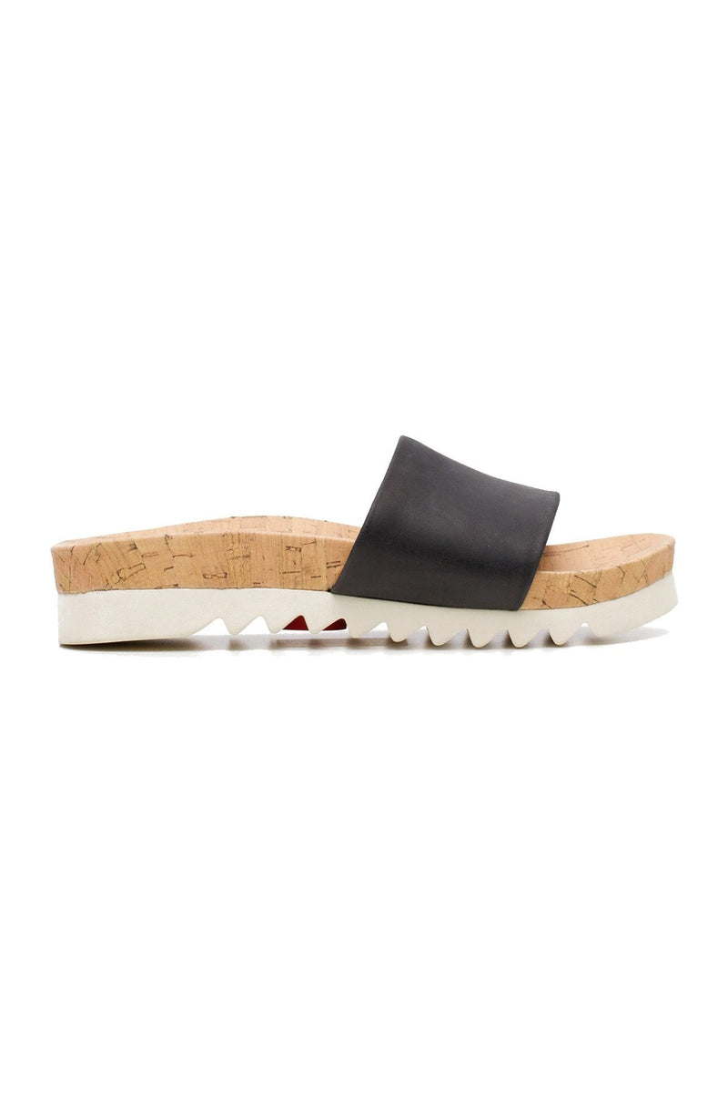 SANDAL SLIDE TOOTH WEDGE - BLACK DA00061