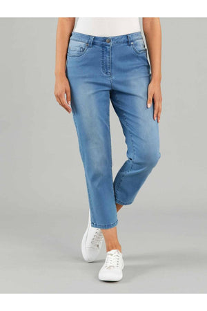 CROP JEANS BLUE WASH