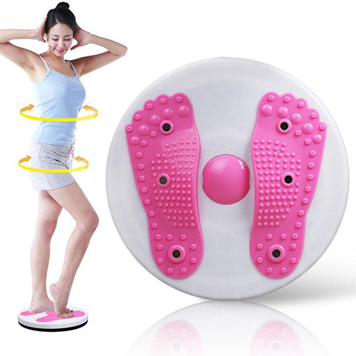 Cardio Waist Twister Aerobic Exercise Board Disc Fat Burner & Foot Massage