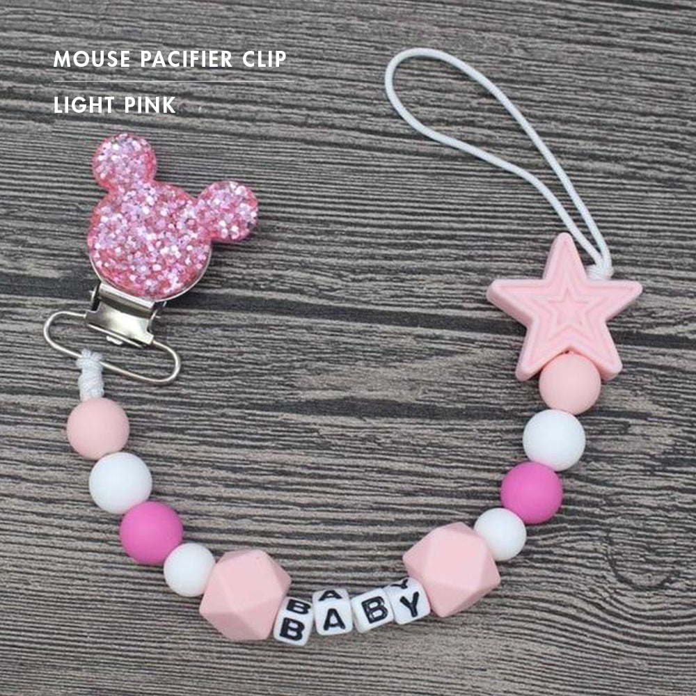 Mouse Pacifier Clips