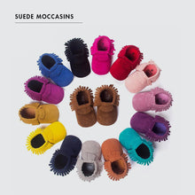 Load image into Gallery viewer, Suede Baby Moccasins