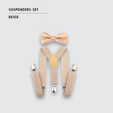Load image into Gallery viewer, Toddler Suspenders and Bow Tie Set