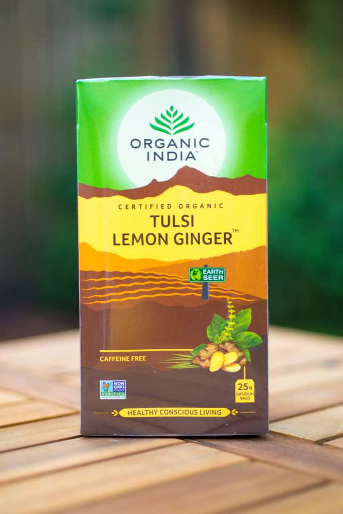 ORGANIC INDIA TULSI LEMON GINGER THEE - 25 ZAKJES - tjuptjup