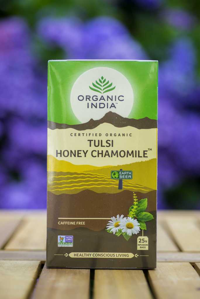 ORGANIC INDIA TULSI HONEY CHAMOMILE THEE - 25 ZAKJES - tjuptjup