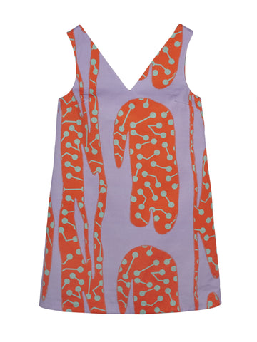 CACTUS PRINT BOXY MINI DRESS