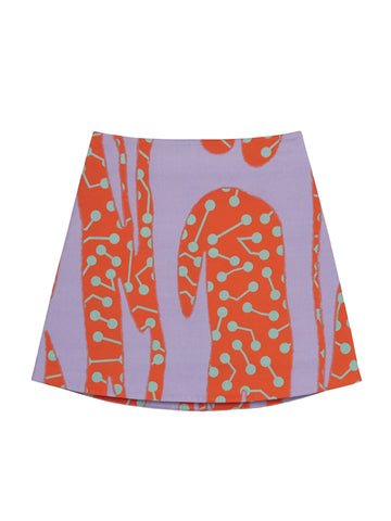 CACTUS PRINT MINI SKIRT
