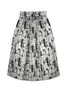METALLIC JACQUARD MIDI-LENGTH PROM SKIRT