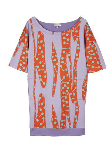 CACTUS PRINT OVERSIZE DROP SHOULDER SWEATDRESS