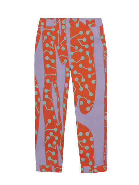 CACTUS PRINT FITTED TROUSER