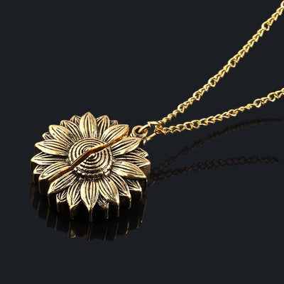 You Are My Sunshine Sunflower Necklace (Gold/Silver/Rose Options) with craft box