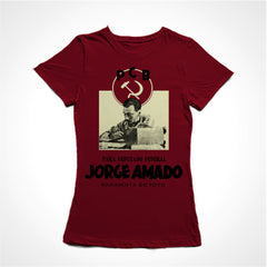 camiseta baby look jorge amado romancista do povo