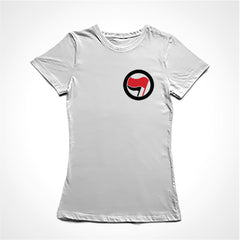 camiseta baby look ação antifascismo mini