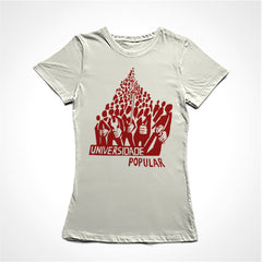 Camiseta Baby Look Universidade Popular