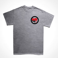 camiseta básica ação antifascismo mini