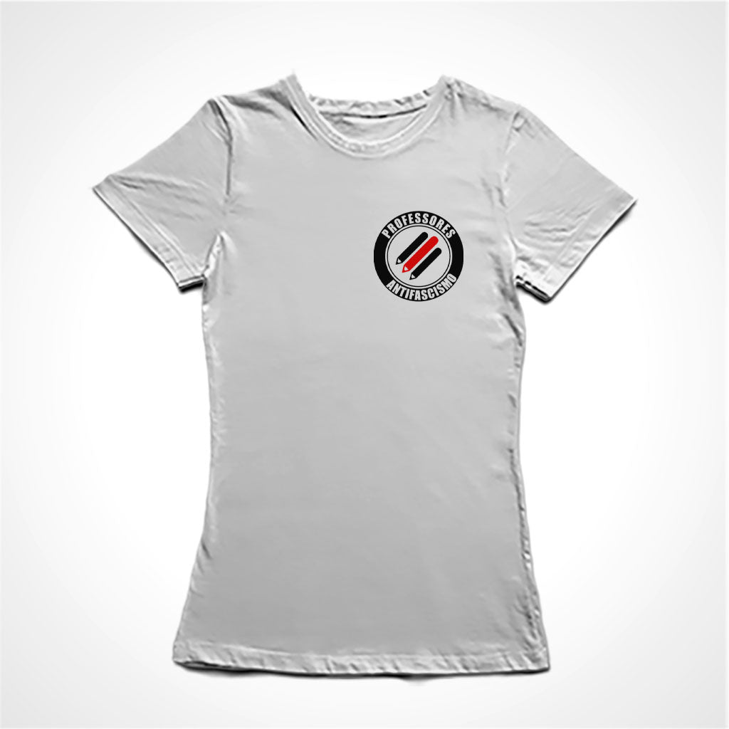 Camiseta Baby Look Professores Antifascismo - Mini