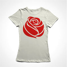 Load image into Gallery viewer, Camiseta Baby Look A Rosa Vermelha do Socialismo