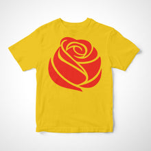 Load image into Gallery viewer, Camiseta Infantil A Rosa Vermelha do Socialismo
