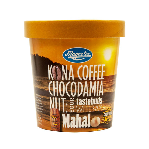 Magnolia All Natural Kona Coffee Chocodamia Nut Ice Cream