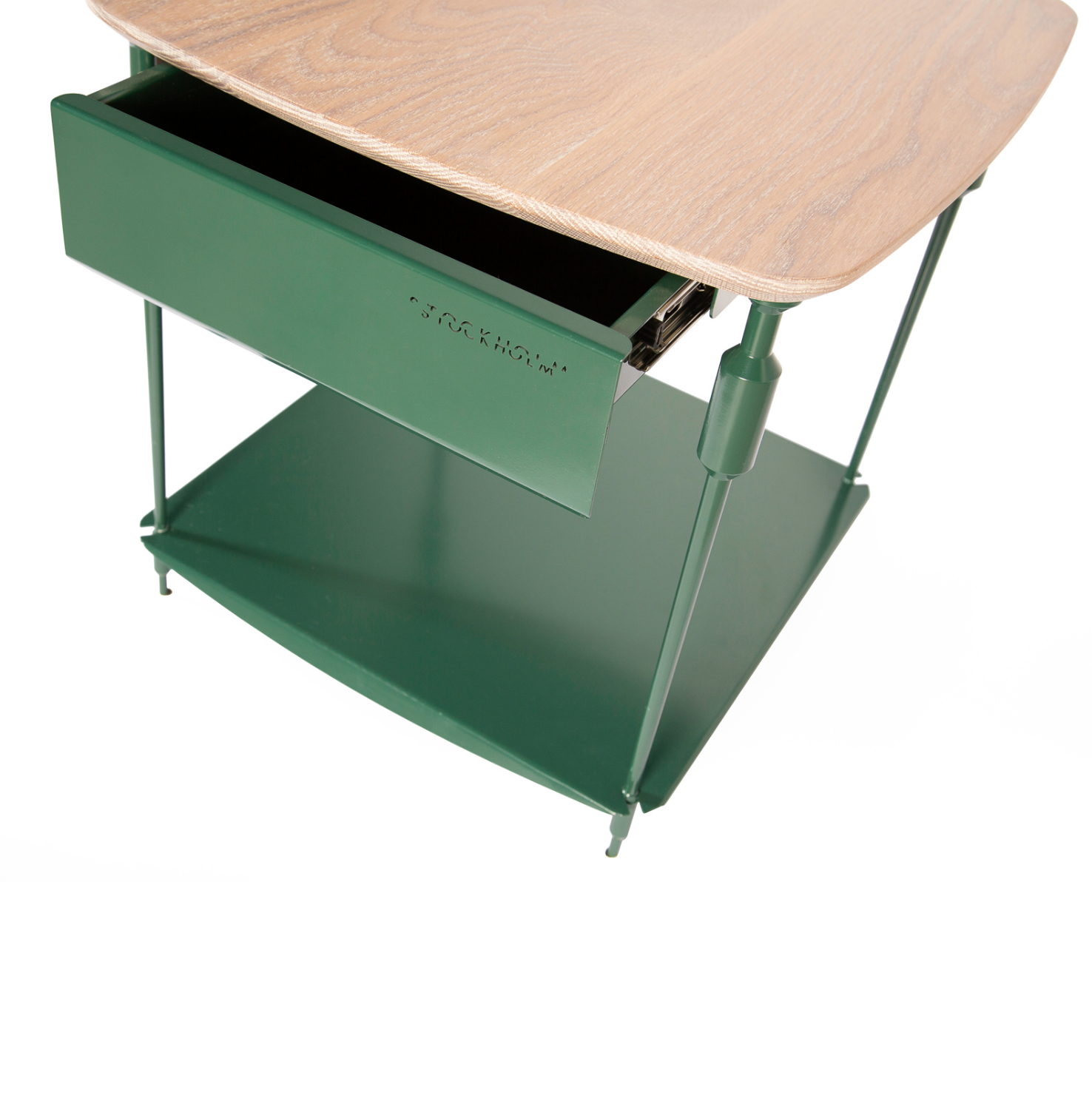 Stockholm Bedside Table - Emerald Green