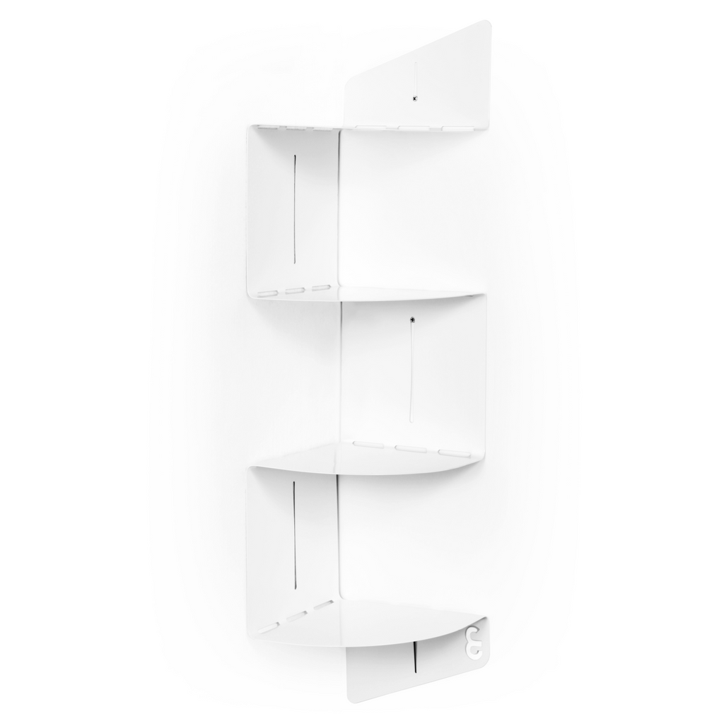 U-Bend It Corner Shelf - White
