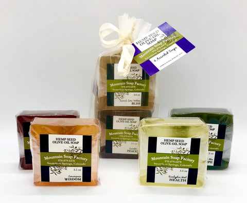 Gift Bag ~ Hemp and Olive Oil Soap Collection