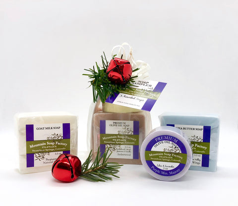Holiday Gift Bag ~ 3 Bar Soap Sampler