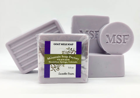 Lavender Cream    Goat Milk Soap