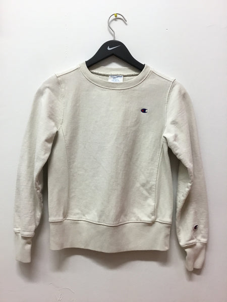 Champion Reverse Weave Off White Crewneck Sweatshirt