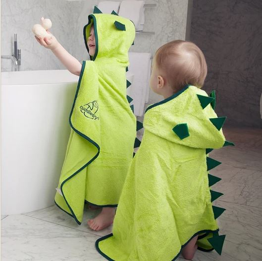 Cuddleroar Bamboo Soft Hooded Towel by Cuddledry