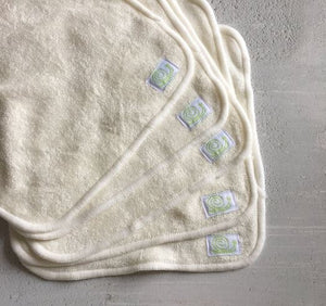 Reusable bamboo baby wipes by Baba & Boo x 5