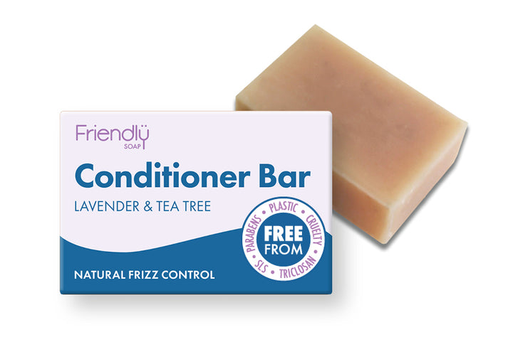 Friendly Soap: Lavender & Tea Tree CONDITIONER Bar 95g