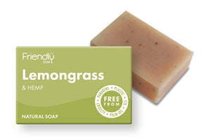 Friendly Soap: Lemongrass and Hemp Soap Bar 95g