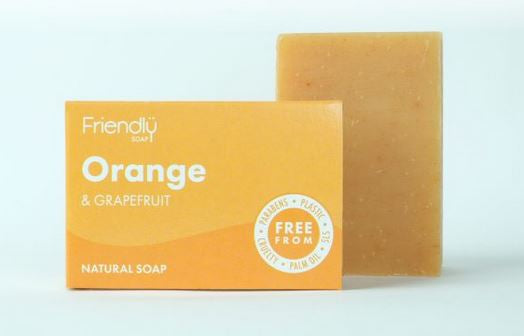 Friendly Soap: Orange & Grapefruit Soap Bar 95g