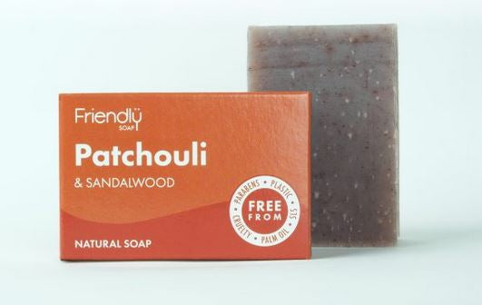 Friendly Soap: Patchouli and Sandalwood Soap Bar 95g