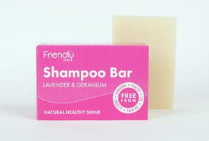 Friendly Soap: Lavender & Geranium Shampoo Bar 95g