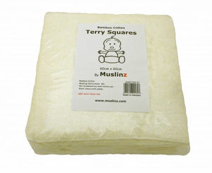 MuslinZ Bamboo/Cotton terry squares 60x60 and 50x50cm
