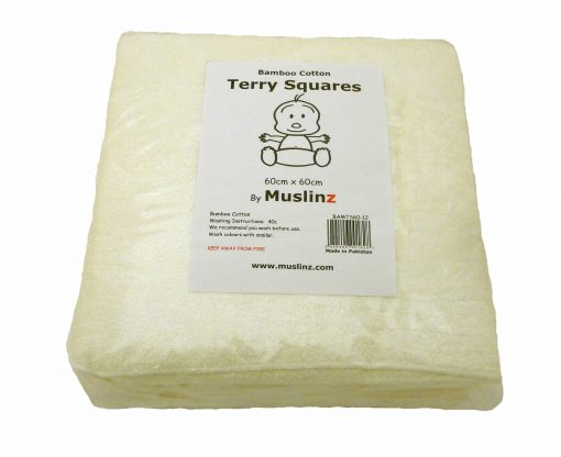 MuslinZ Bamboo/Cotton terry squares 60x60