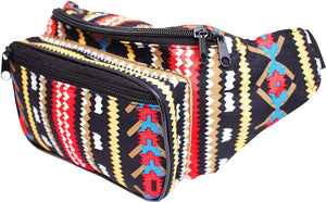 Aztec Tribal Festival Bum Bag