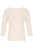 Bamboo Knot Fronted Top with 3/4 Length Sleeve