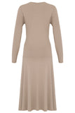 Organic Bamboo Drape Wrap Long Sleeved Dress