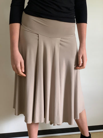 Organic Bamboo the Below Knee Roll Up Skirt