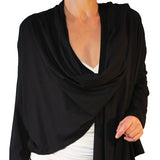 Organic Bamboo Long Sleeved Wrap Cardigan