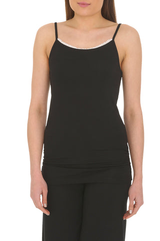 Organic Bamboo Camisole Vest Lace Trim