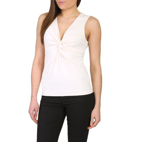 Organic Bamboo Knot Fronted Vest Top