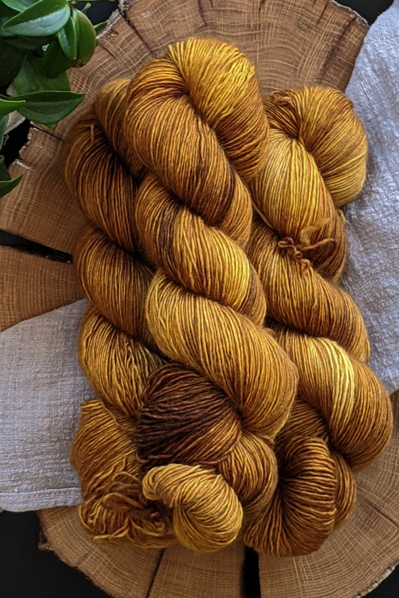 Baltic Amber - Modest Singles-  Non-Superwash Fingering Weight