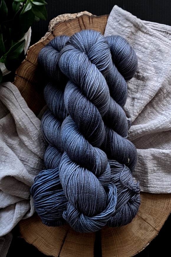 Gentleman's Grey - Vibrant 80/20 - Fingering Weight - In Stock - Minimalist Neutrals
