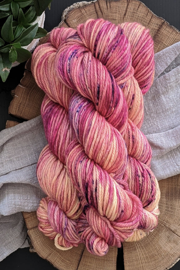 Berry Peach Bellini - Merino Squish - Bulky Weight