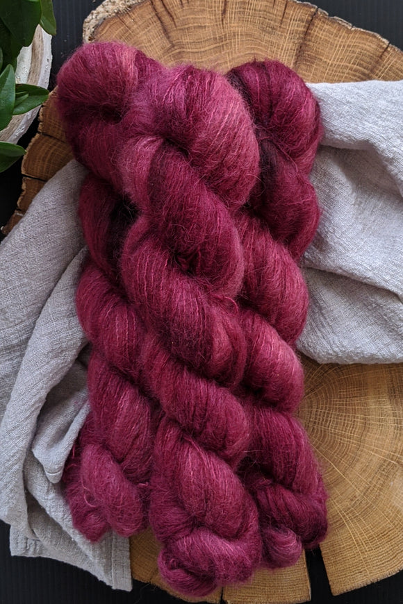 Mulled Wine - Suri Alpaca Lace - Lace Weight