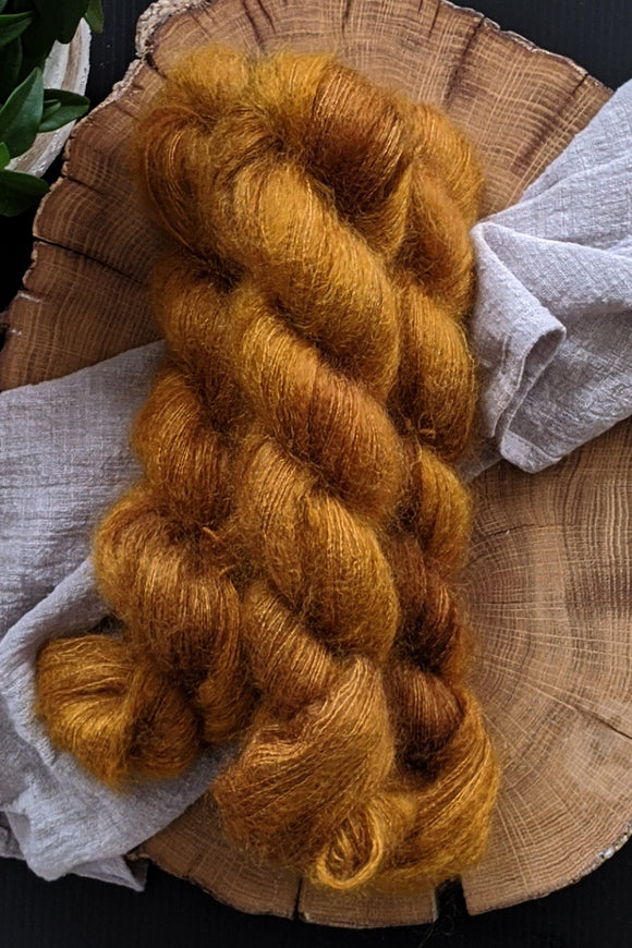 Baltic Amber - Mohair Lace - Lace Weight