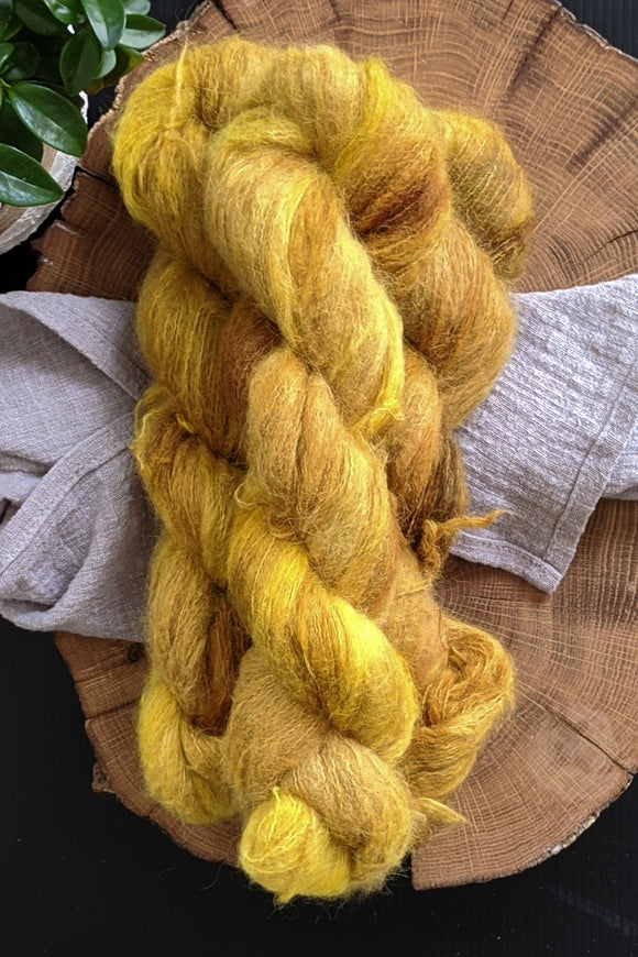 Baltic Amber - Suri Alpaca Lace - Lace Weight